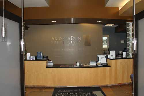 Scottsdale Pain Clinic Front Desk
