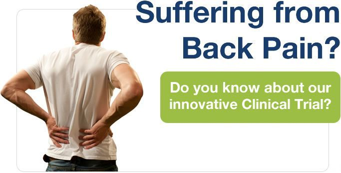 Suffering from Back Pain? Do you know about our innovative Clinical Trial?