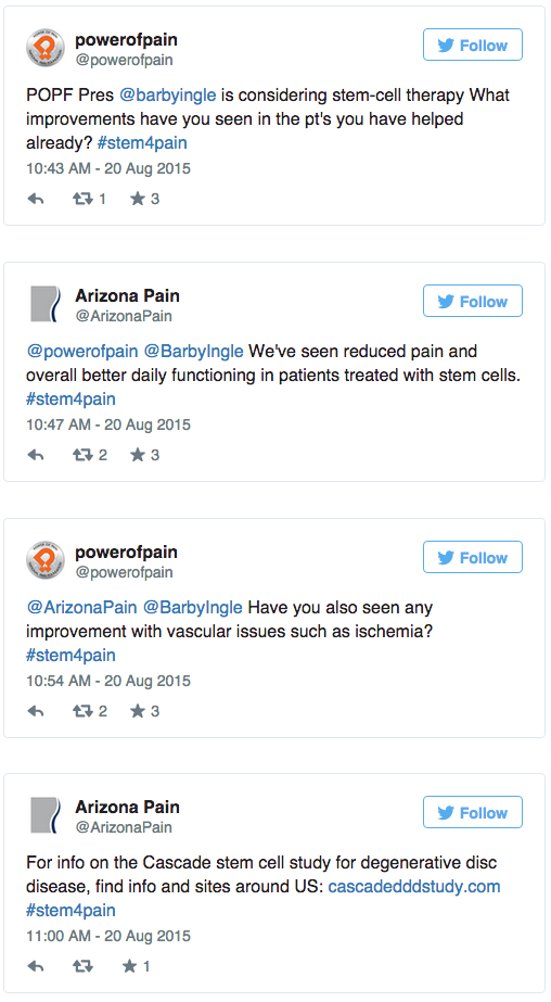 Arizona Pain Hosts Twitter Chat About Stem Cell Research  | ArizonaPain.com